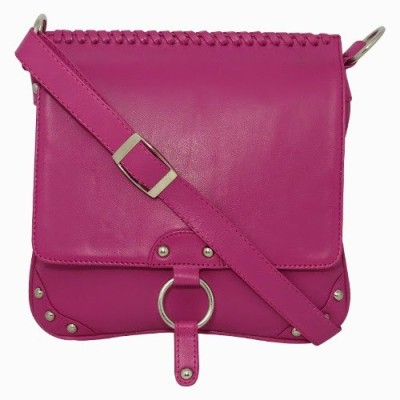 Chimera Leather Women Casual, Formal Pink Genuine Leather Sling Bag