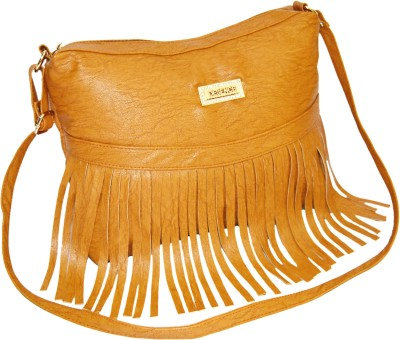 Minar Girls Brown PU Sling Bag