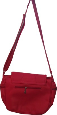 Flair Girls Red Leatherette Sling Bag