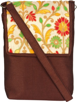 Art Horizons Women Brown Cotton Sling Bag