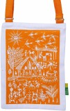 Eco Corner Women Orange Cotton Sling Bag