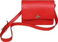 GREENFIELDS Women Red, Blue, Brown Genuine Leather Sling Bag