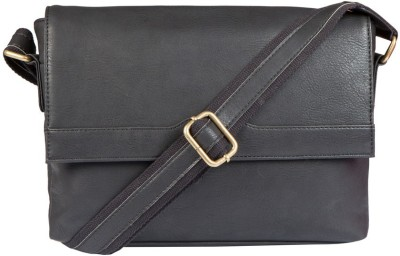 Lomond Men Black PU Sling Bag