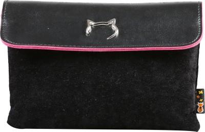 FabSeasons Women, Girls Casual Black Velvet Sling Bag