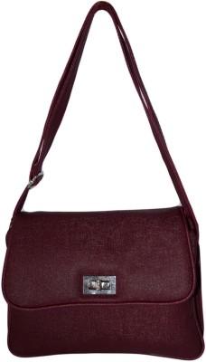 Prajo Women Maroon PU Sling Bag