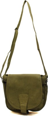 Pochette Girls, Women Green PU Sling Bag