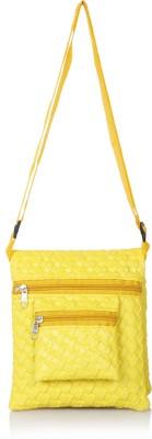 Acute Girls, Women Yellow Genuine Leather Sling Bag