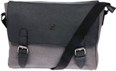 iva Men, Women Grey Leatherette Sling Bag