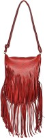 BLUR Women Red, Gold Leatherette Sling Bag