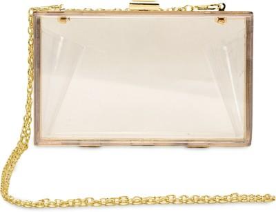 femnmas Girls White Acrylic Sling Bag