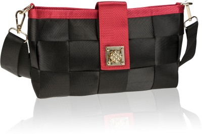 Neuste Women, Girls Casual, Evening/Party, Festive Black, Red PU Sling Bag