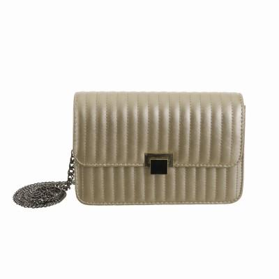 Peaubella Women Formal Gold PU Sling Bag