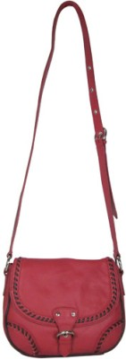 Indostyle Girls Casual Red Genuine Leather Sling Bag