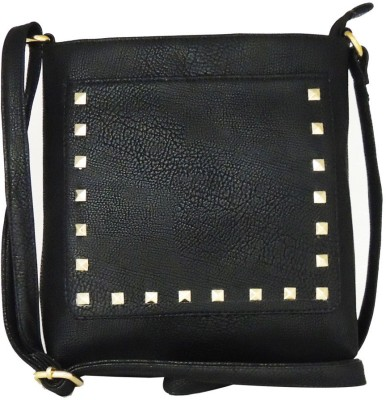 Madame Exclusive Girls, Women Black Leatherette Sling Bag