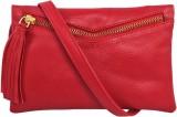 Peacock Women Red PU Sling Bag