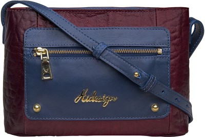 Hidesign Women Purple, Blue Genuine Leather Sling Bag