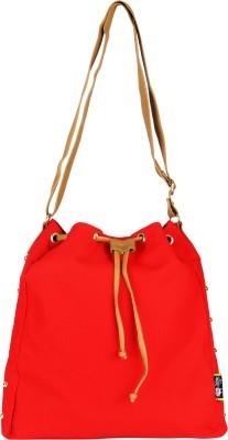Kanvas Katha Girls, Women Red Canvas Sling Bag