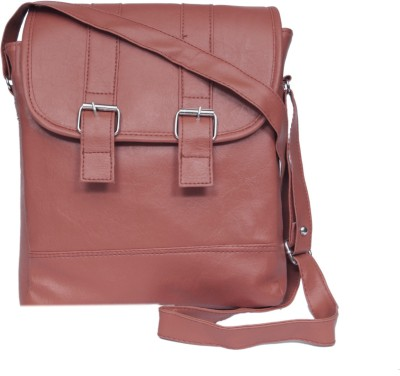 zasmina Girls, Women Brown, Maroon Leatherette, PU Sling Bag