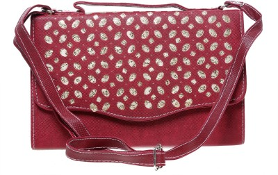 Tripssy Women Maroon Leatherette Sling Bag