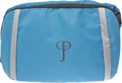 Purple Feather Men, Women Blue Nylon Sling Bag