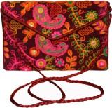 Vedic Deals Women Maroon Canvas Sling Ba...