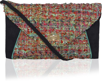 Lost & Found Girls, Women Multicolor, Blue Velvet Clutch