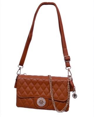 Ruff Girls, Women Brown PU Sling Bag