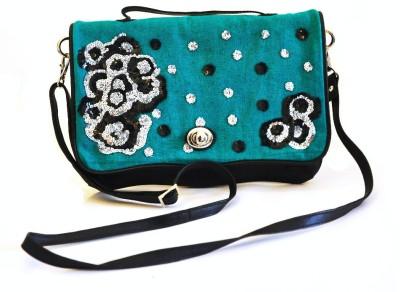 Dhruva Girls Black Genuine Leather Sling Bag