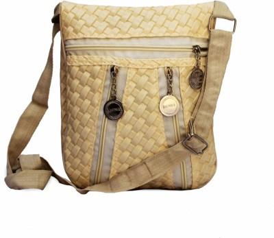 Glitters Girls White Rexine Sling Bag