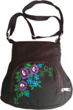 Fly Angels Women Brown Canvas Sling Bag