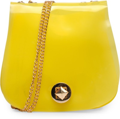 Bags Craze Women Yellow Silicon Sling Bag