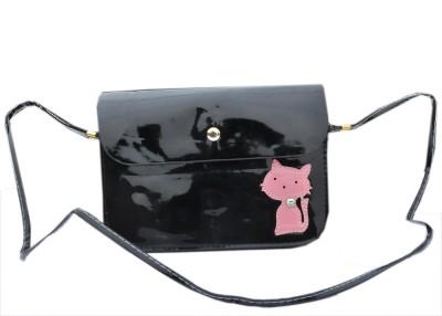 Urban Street Women, Girls Black Genuine Leather Sling Bag