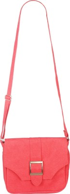 Fristo Women Casual Pink PU Sling Bag
