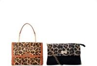 Ayeshu Women Brown PU Shoulder Bag