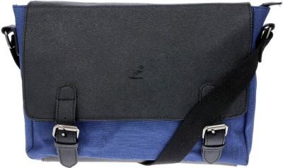 iva Men, Women Blue Leatherette Sling Bag
