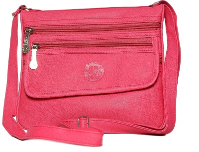 Tripssy Women Pink Leatherette Sling Bag