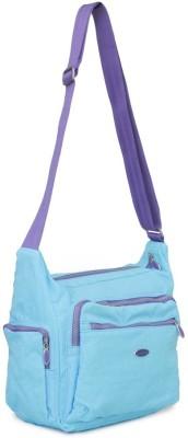 Penguin Women Evening/Party Blue Polyester Sling Bag
