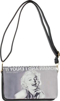 abrazo Girls, Women Grey PU Sling Bag