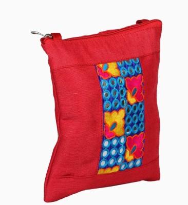 Jute Tree Girls Red Jute Sling Bag