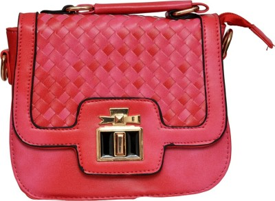 Pick Ur Bags Women Pink Genuine Leather Sling Bag