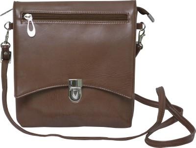 Q&K Girls, Women Brown Leatherette Sling Bag