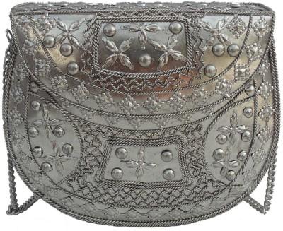 Alar Women Silver Metal Sling Bag