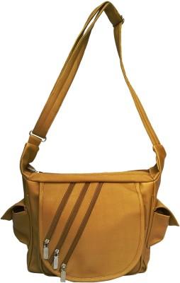 Fashion Knockout Girls, Women Gold Leatherette Sling Bag