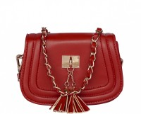 ToniQ Girls Maroon PU Sling Bag