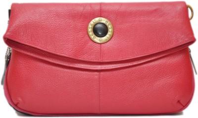 Hide Bulls Girls Pink Genuine Leather Sling Bag