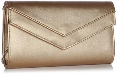 ToniQ Girls Gold Polyester Sling Bag