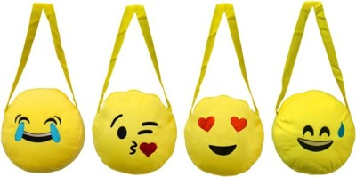 ARIP Girls Yellow Velvet Sling Bag