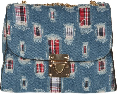 The Backbencher Women Blue Canvas Sling Bag