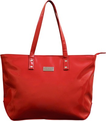 Lychee Bags Women Red PU Tote