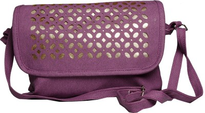 Tripssy Women, Girls Purple Leatherette Sling Bag